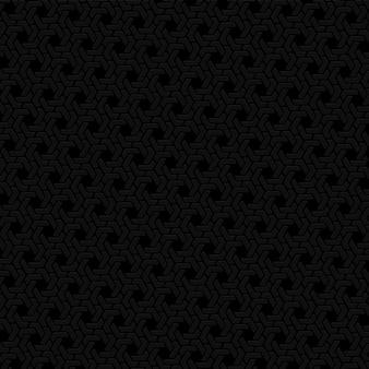 Fundo preto hexágono padrão retro