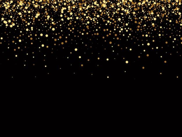 Fundo preto luxuoso com brilhos de ouro, fundo de brilhos de ouro.