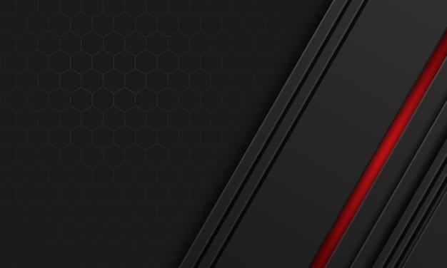 Fundo preto luxuoso moderno com padrão de hexágono
