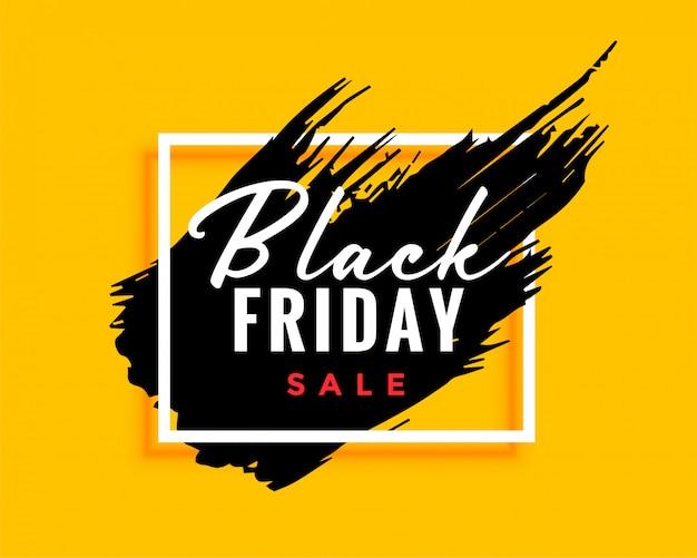 Fundo preto moderno de sexta-feira com efeito de tinta