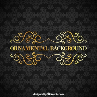 Fundo preto ornamental