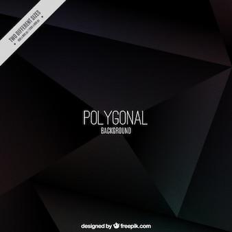 Fundo preto poligonal