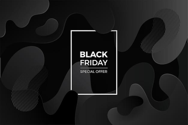 Fundo preto sexta-feira com gradiente preto