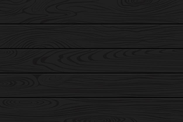 Fundo preto textura de madeira