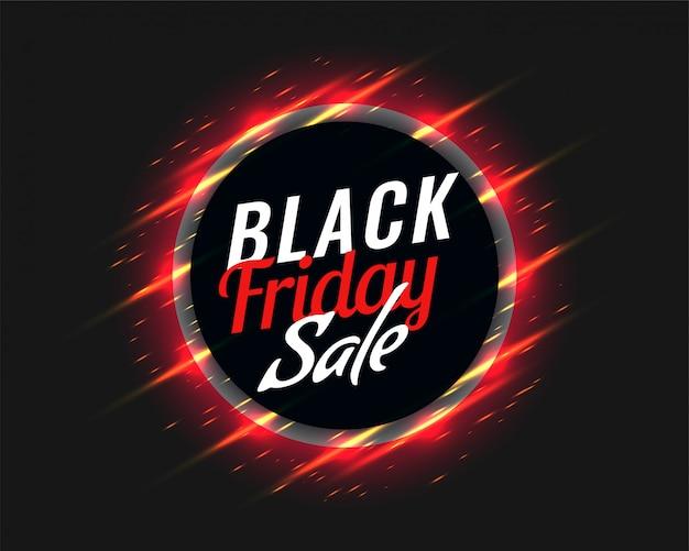 Fundo preto venda sexta-feira com listras vermelhas brilhantes