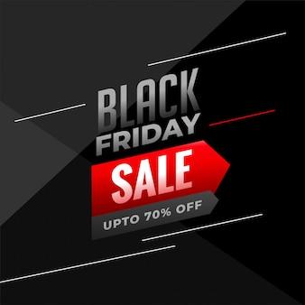 Fundo preto venda sexta-feira em cores escuras