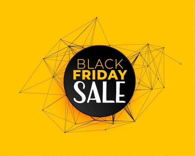 Fundo preto venda sexta-feira em linhas de rede de tecnologia