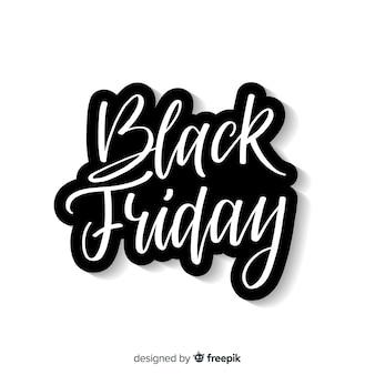 Fundo preto vendas de sexta-feira com tipografia