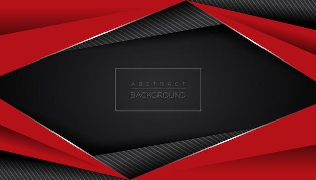 Fundo preto vermelho abstrato