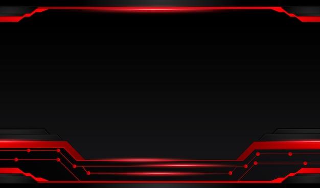 Fundo preto vermelho metálico abstrato com listras de contraste