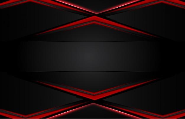 Fundo preto vermelho metálico abstrato