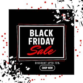 Fundo promocional de venda de sexta-feira negra abstrata