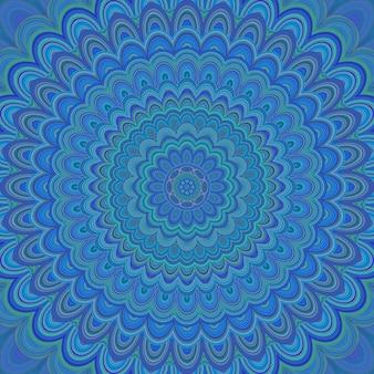 Fundo psicadélico de ornamento de mandala - desenho simétrico circular de padrões vetoriais a partir de formas ovais concêntricas