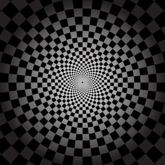 Fundo psicodélico preto e branco