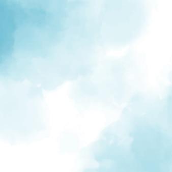 Fundo quadrado azul aquarela
