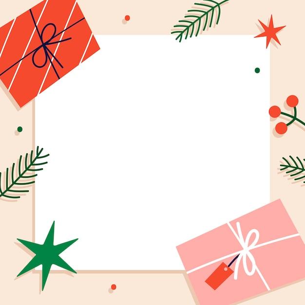 Fundo quadrado de natal para cartão comemorativo