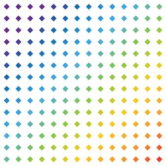 Fundo quadrado do arco-íris. padrão quadrado em vista panorâmica. fundo quadrado do arco-íris padrão abstrato. ilustração vetorial
