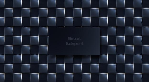 Fundo quadrado escuro abstrato