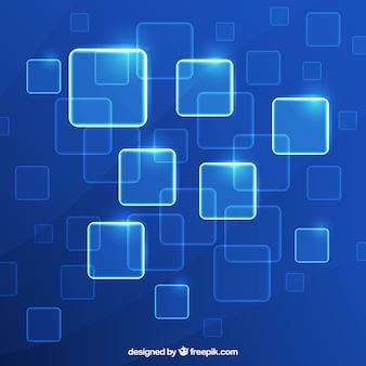 Fundo quadriculado tecnológico brilhante