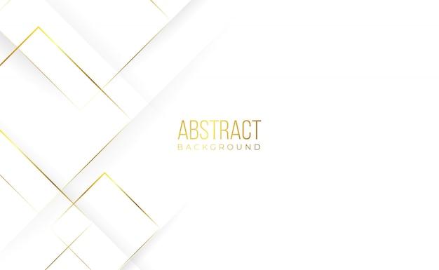 Fundo real abstrato dourado branco Vetor Premium