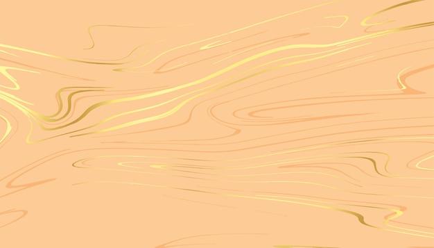 Fundo real luxuoso com linhas curvas douradas