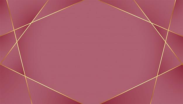 Fundo real luxuoso com linhas douradas de baixo poli