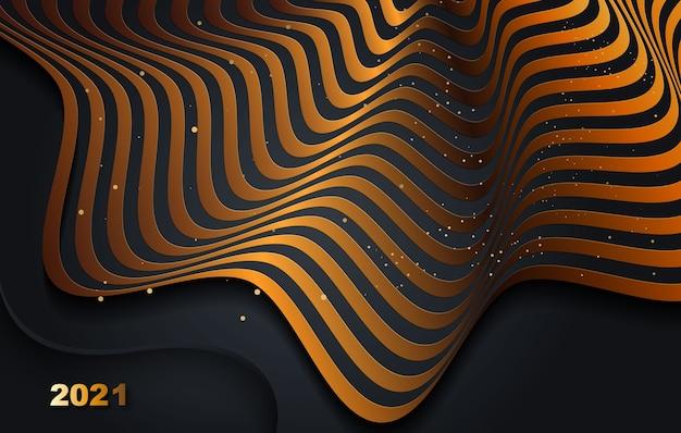 Fundo realista abstrato com bordas onduladas e gradiente.