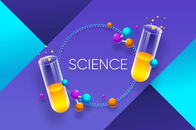 Fundo realista colorido de ciência