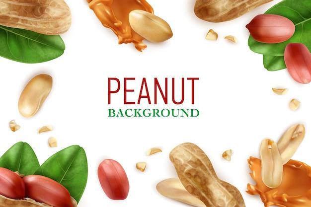 Fundo realista com moldura de amendoim