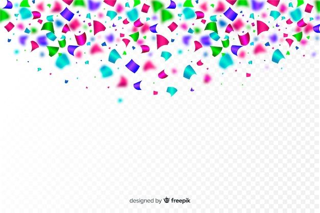 Fundo realista confete colorido