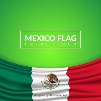 Fundo realista da bandeira mexicana