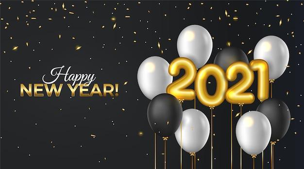 Fundo realista de ano novo 2021