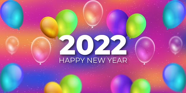 Fundo realista de ano novo 2022