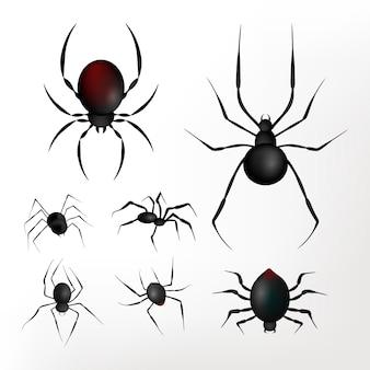 Fundo realista de aranhas de halloween