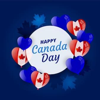 Fundo realista de balões do dia do canadá