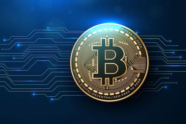Fundo realista de bitcoin