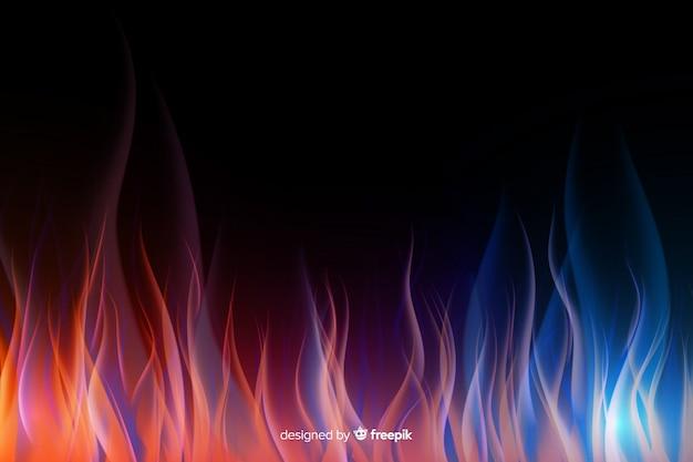 Fundo realista de chamas