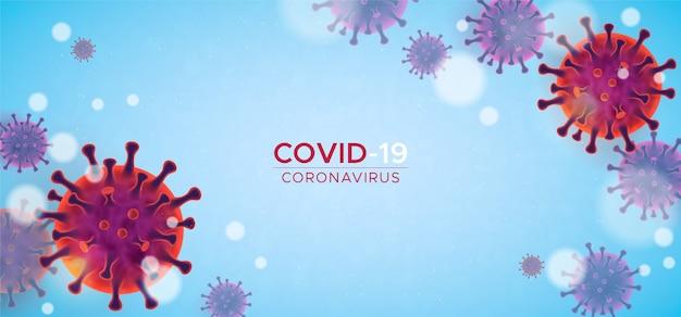 Fundo realista de coronavírus