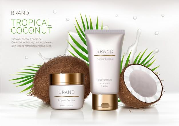 Fundo realista de cosmético