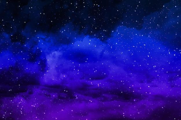 Fundo realista de estrelas e planetas