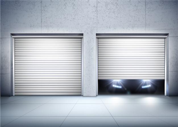 Fundo realista de garagem