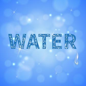 Fundo realista de gotas de água