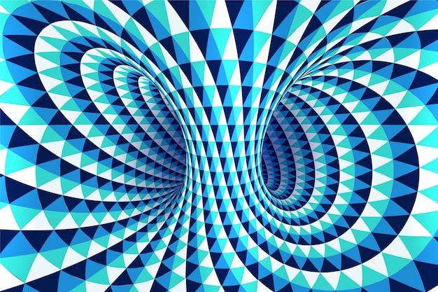 Fundo realista de ilusão de ótica