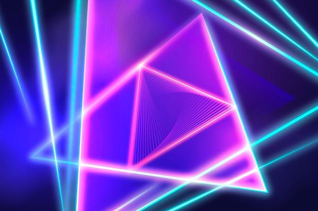 Fundo realista de luzes de néon