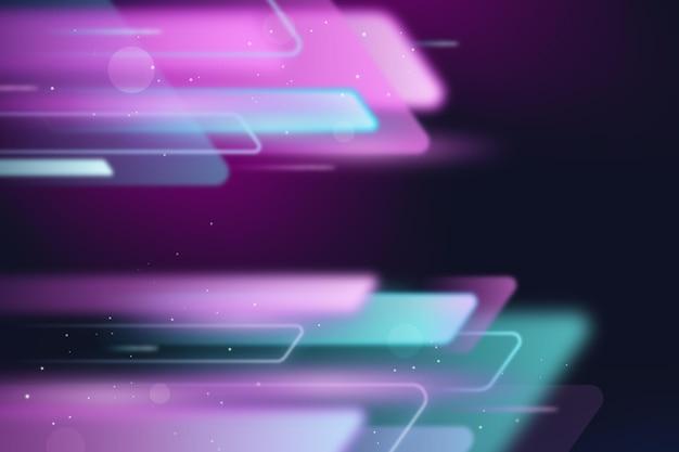 Fundo realista de movimento com velocidade de néon