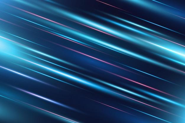Fundo realista de movimento de néon rápido