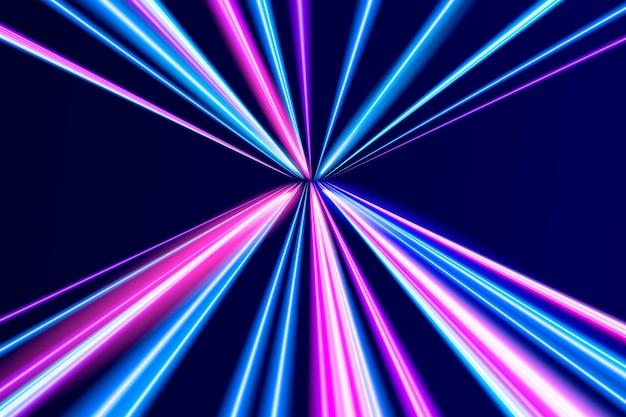Fundo realista de movimento de néon