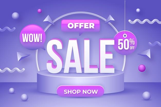 Fundo realista de oferta de super venda