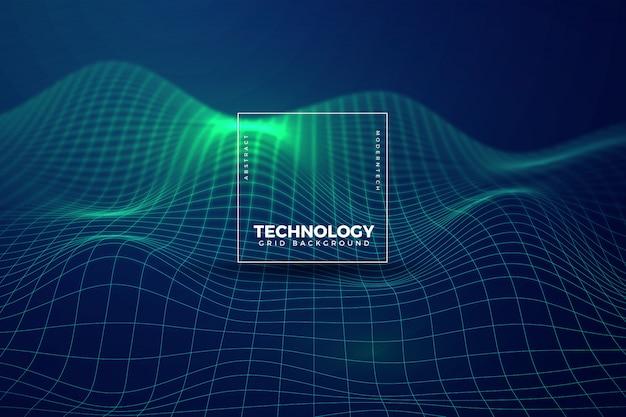 Fundo realista de tecnologia