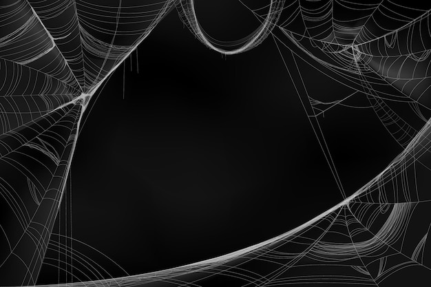 Fundo realista de teia de aranha de halloween